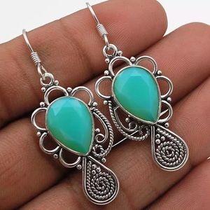 Jewelry - 💠BLUE FIRE OPALITE EARRINGS•925 STERLING💠